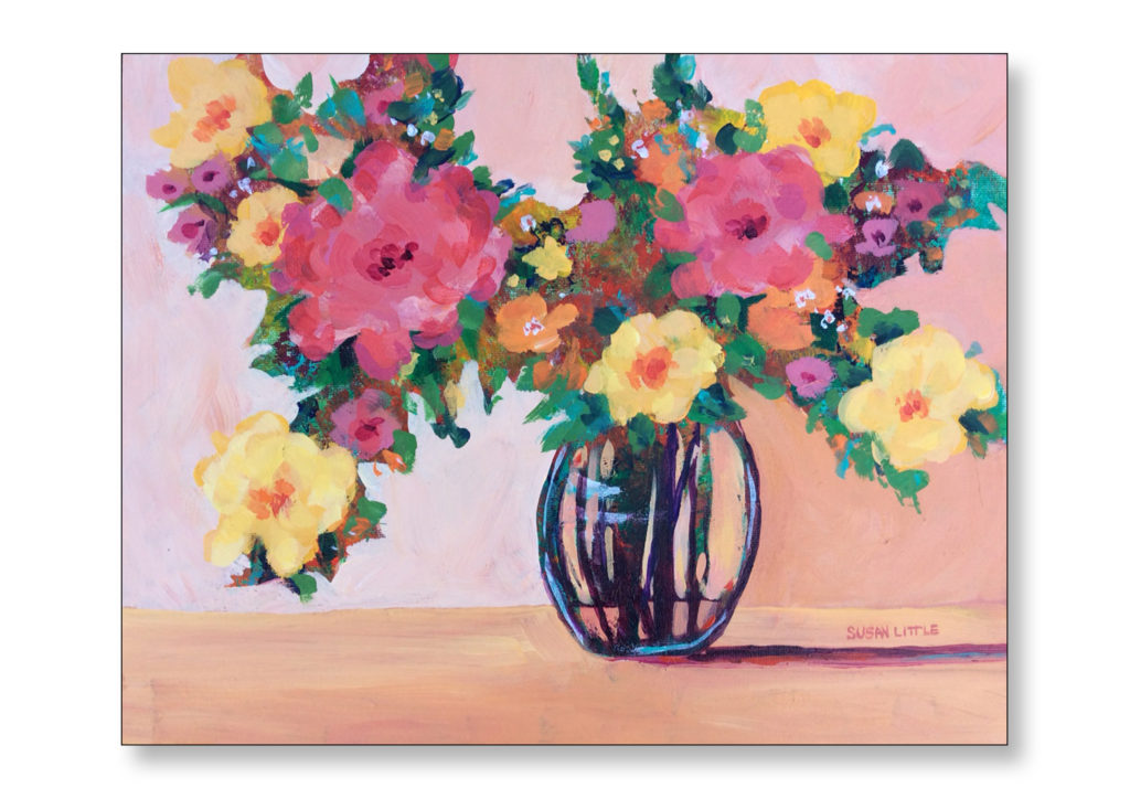 """'Bright and Beautiful' on canvas board $200.00 14""""x11"""""""