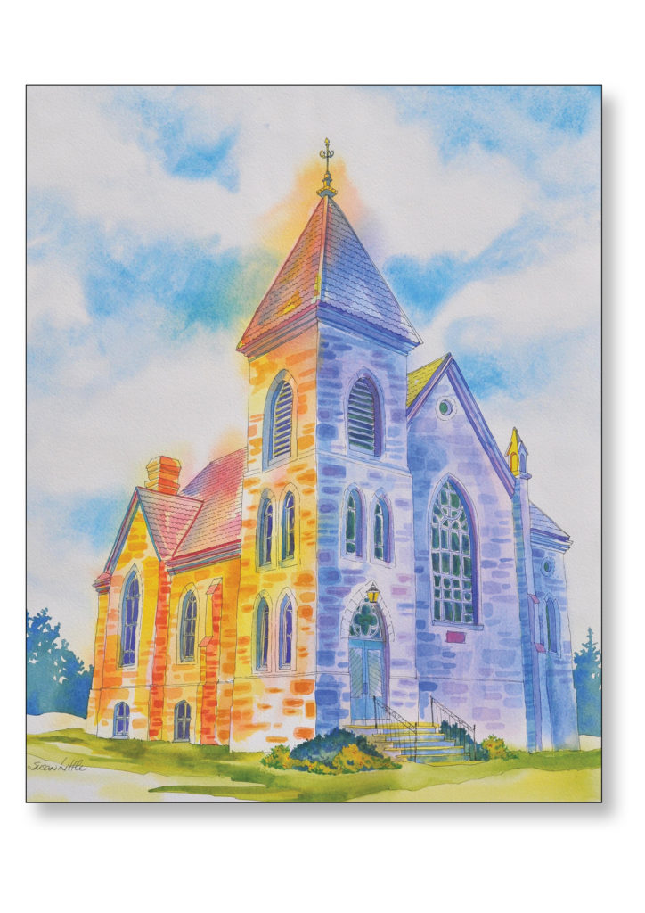 "'Union Presbyterian Church, Norval $400.00 26""x29"" Framed"