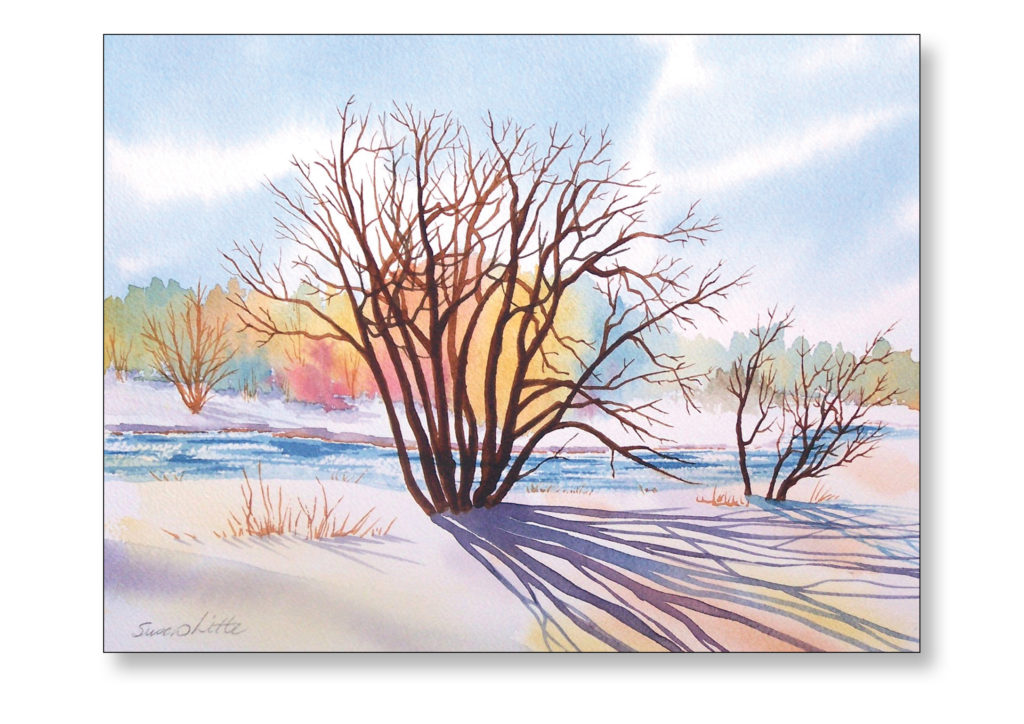 Watercolour Painting Winter Days