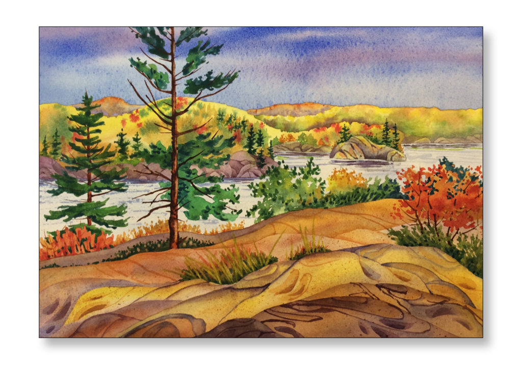 "'The Lookout, Northern Ontario' $300.00 unframed 13""x9 1/2"""
